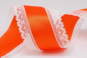 72mm Lace Edge Satin Ribbon - 72mm Lace Edge Satin Ribbon