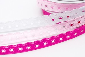 Diecut Dots & Scallop Edge Ribbon - Diecut Dots & Scallop Edge Ribbon