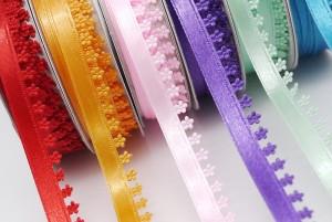 Flores Diecut Satin Ribbon - Flores Diecut Satin Ribbon