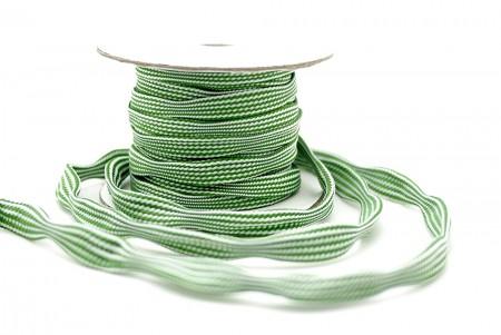 Curvy Green / White Braid - Curvy Green / White Braid
