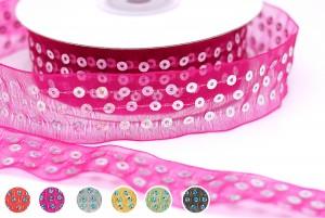 Sequins Sheer Ribbon - Sequins Sheer Ribbon