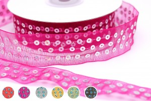 Sequins Sheer Ribbon - Sequins Sheer Ribbon