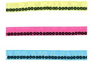 Square Sequins Sheer Ribbon - Square Sequins Sheer Ribbon