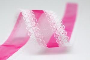 Lace Edge Organza Ribbon - Lace Edge Organza Ribbon