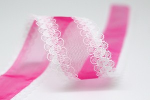 Lace Edge Organza Ribbon - Lace Edge Organza Ribbon