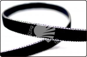 Silver Edge Velvet Ribbon - Silver Edge Velvet Ribbon