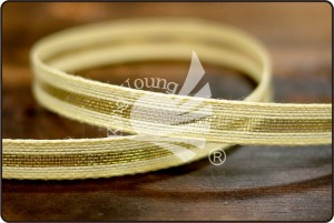 Jute & Metallic Stripe Ribbon - Jute & Metallic Stripe Ribbon