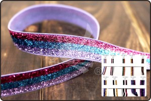 Multicolor Glitter elastic Ribbon - Multicolor Glitter elastic Ribbon (VK1497)