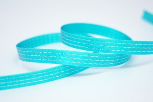 Metallic Stitching Lines Satin Ribbon - Metallic Stitching Lines Satin Ribbon