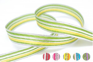 Multi-colored Narrow Stripe Ribbon - Multi-colored Narrow Stripe Ribbon