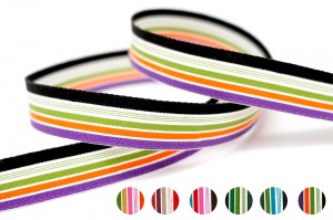Organic Cotton Stripe Ribbon - Organic Cotton Stripe Ribbon