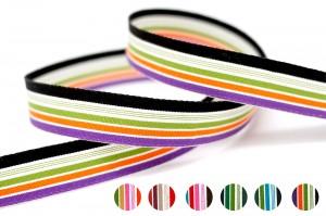 Organic Cotton Stripe Ribbon - Organic Cotton Stripe Ribbon