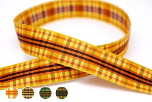 Earth Tone Plaid Ribbon - Earth Tone Plaid Ribbon