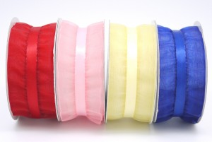 Ruffled Organza 38mm Ribbon - Ruffled Organza 38mm Ribbon