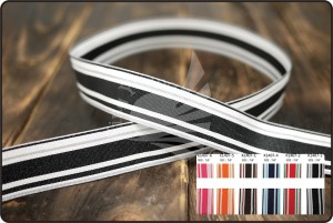 Stripe Ribbon_K1407 - Stripes Printed Ribbon(K1407)
