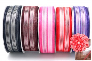 Metallic Stripe Woven Ribbon