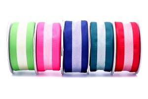 PLA & Recycled PET Eco-friendly Stripe Ribbon - PLA & Recycled PET Eco-friendly Stripe Ribbon