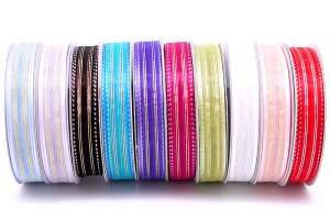 Stitching Metallic Organza Ribbon