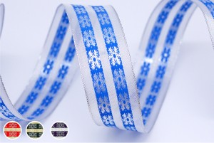 Metallic Snowflake Ribbon - Metallic Snowflake Ribbon