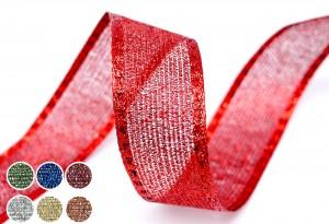 Metallic geweven gaaslint - Metallic geweven gaaslint
