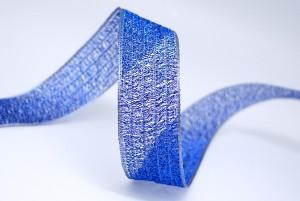 Metallic Mesh Stripe Ribbon - Metallic Mesh Stripe Ribbon