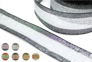 金屬蔥鐵絲邊織帶 - 金蔥鐵絲邊織帶 (W862S)