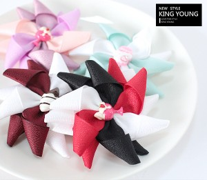 Sweet Ribbon Windmill Hair Clips