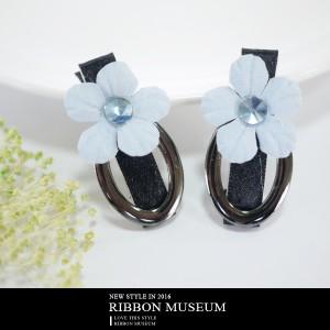 韓系花朵水鑽髮飾