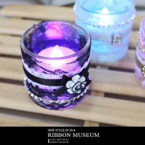 LED Candle Holder with Stylish Laces