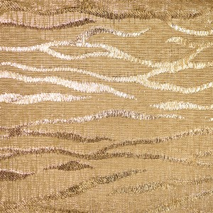 Gold Zebra Metallic Fabric - Gold Zebra Metallic Fabric