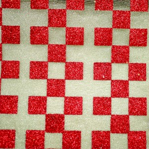 Glitter Checkered Metallic Fabric - Glitter Checkered Metallic Fabric