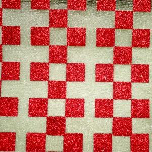 Glitter Checkered Metallic Fabric - Glitter Checkered Metallic Fabric
