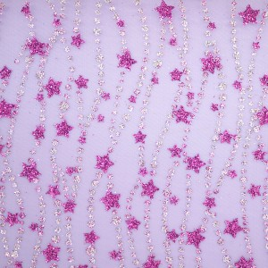 Stars & Dotted Lines Organza Fabric - Stars and Dotted Lines Organza Fabric
