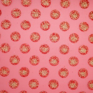 Glitter Polka Dots Organza Fabric - Glitter Polka Dots Organza Fabric