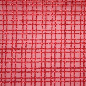 Glitter Plaid Organza Fabric - Glitter Plaid Organza Fabric