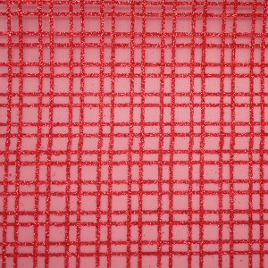 Glitter Plaid Organza Fabric - Glitter Plaid Organza Fabric
