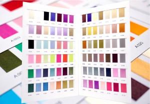 Nylon satijnen lint_Kleurenkaart - Nylon satijnen lint_Kleurenkaart