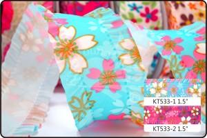Cerasus Blossom Ruffled Ribbon - Cerasus Blossom Ruffled Ribbon