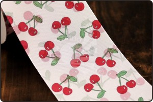 70mm Cherry Print Ribbon - 70mm Cherry Print Ribbon