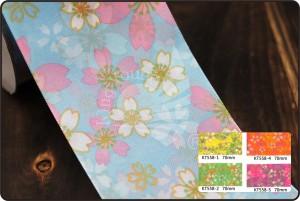 70 mm kleurrijk lint met bloemenprint - 70 mm kleurrijk lint met bloemenprint