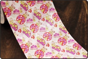 70mm Lady Beetle Print Ribbon - 70mm Lady Beetle Print Ribbon