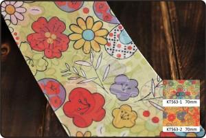 70 mm lint met verschillende bloemenprint - 70 mm lint met verschillende bloemenprint