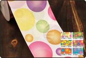 70mm Colorful Bubbles Print Ribbon - 70mm Colorful Bubbles Print Ribbon