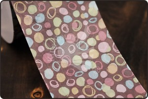 70mm Irregular Dots & Circles Print Ribbon - 70mm Irregular Dots & Circles Print Ribbon