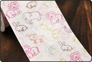 70 mm-es Party állatok nyomtatása szalag - 70 mm-es Party állatok nyomtatása szalag