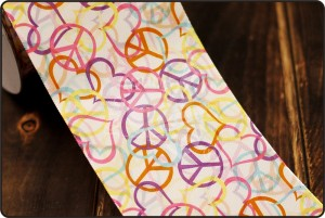 70mm Love & Peace Print Ribbon - 70mm Love & Peace Print Ribbon