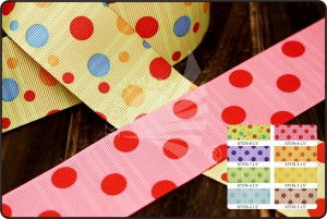 Dots & Stripes Print Ribbon