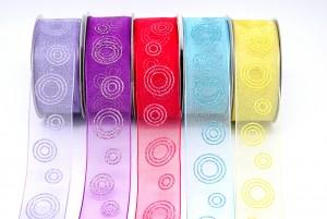 Glitter Circles Print Ribbon - Glitter Circles Print Ribbon