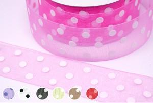 Polka Dots Organza Ribbon - Polka Dots Organza Ribbon