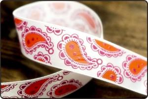Paisley Print Satin Ribbon - Paisley Print Ribbon
